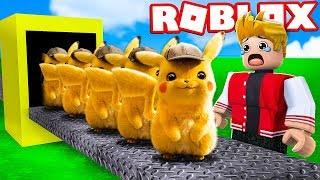 FÁBRICA DO DETETIVE PIKACHU NO ROBLOX !