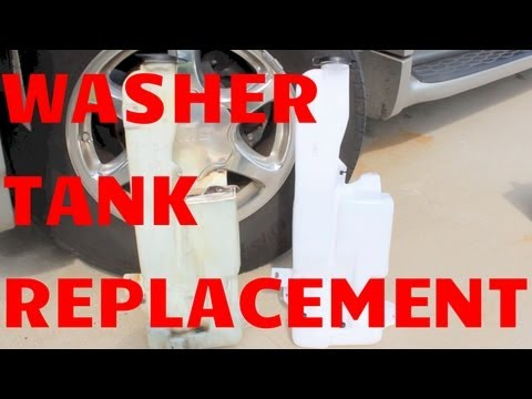 WINDSHIELD WASHER RESERVOIR TANK REPLACEMENT GMC YUKON CHEVY TAHOE