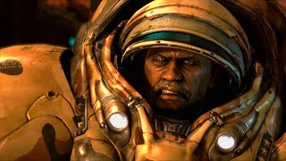 Jim Raynor Saves General Horace Warfield on Char (Starcraft 2 | A Card to Play Scene)