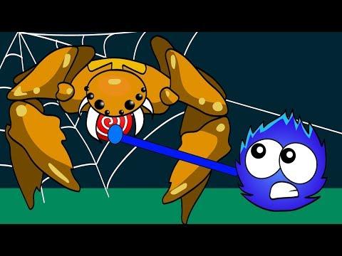 ПУШИСТИК попал В ЛАПЫ Огромного ПАУКА Битва с Зубастым МОНСТРОМ Игра как Мультик Catch the Candy