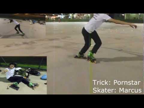 Freestyle inline slide trick video: Porn star