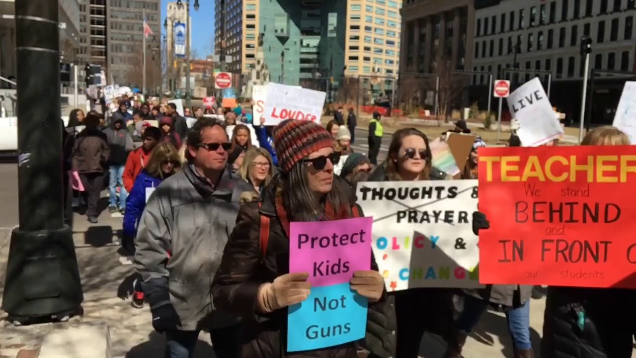 March For Our Lives rally in Downtown Detroit