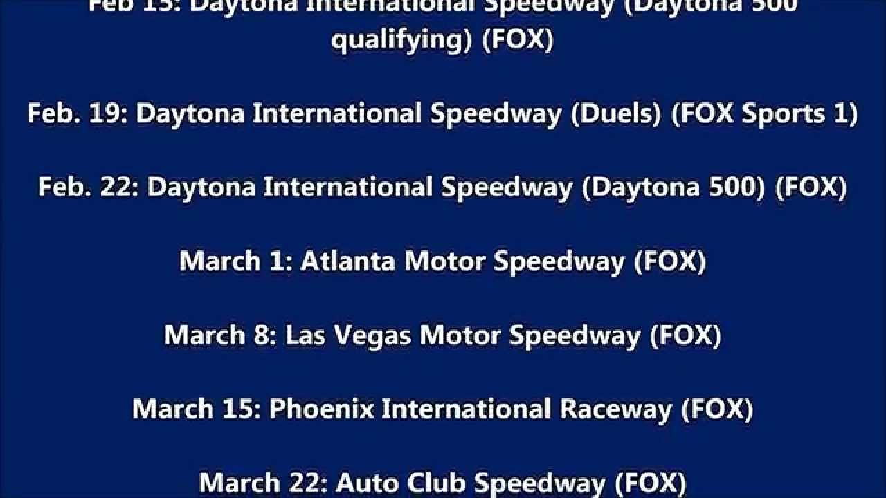 2015 NASCAR Schedule (My Thoughts) - YouTube