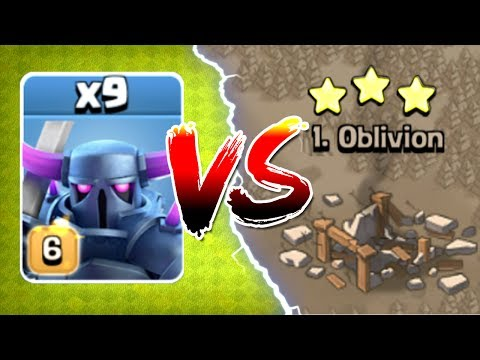 ALL MAX LEVEL 6 PEKKA'S vs TOP PLAYER IN WAR!! - Clash Of Clans - GEM TO MAX LEVEL!