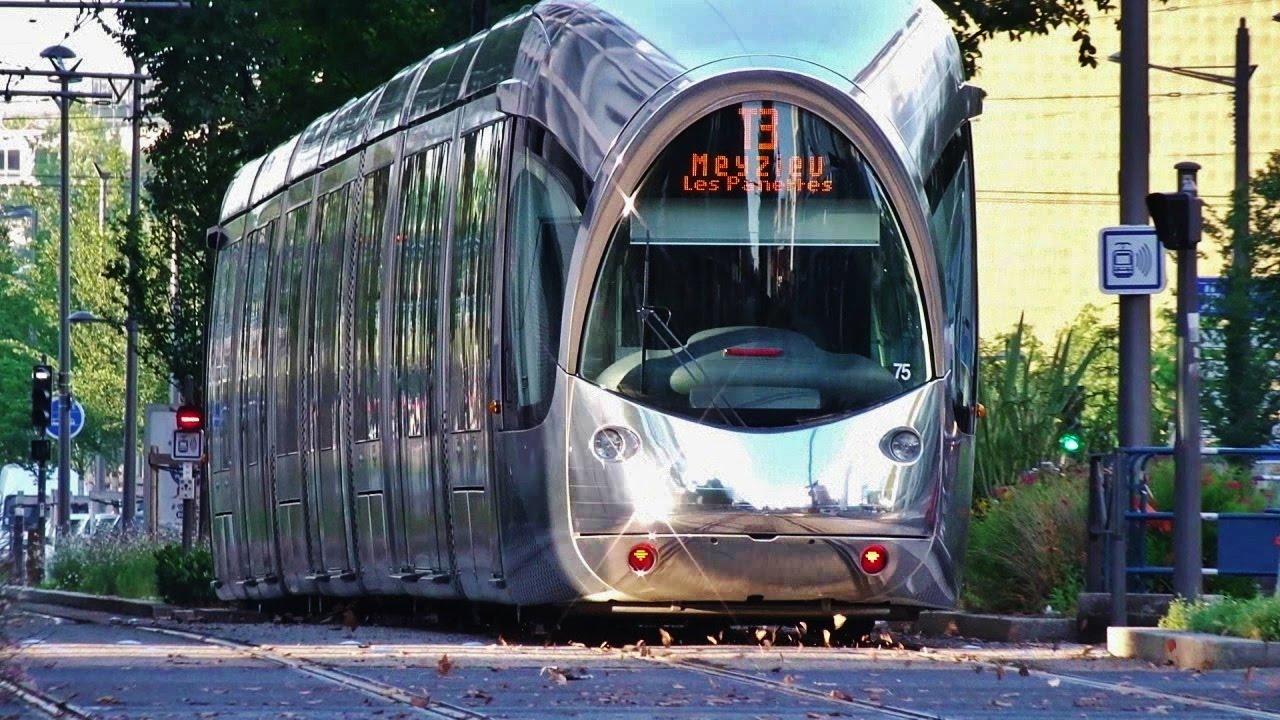 Le tramway de lyon rame 39 75 39 miroir youtube for Miroir de nagoya
