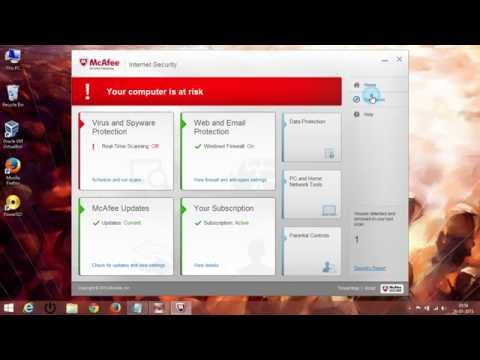 How To Disable & Enable Mcafee Antivirus 2015
