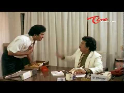 Telugu Comedy Scene - Giribabu As Rajendra Prasad's Boss
