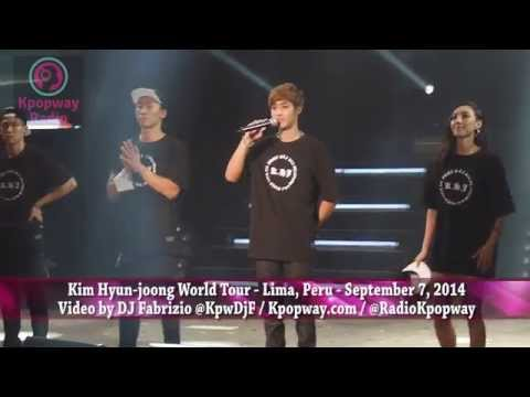 Kim Hyun-joong World Tour - Lima, Peru - Sep 2014   Video Highlights - Resumen Del Concierto video