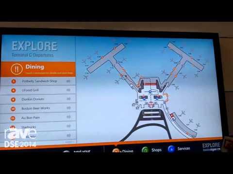 DSE 2014: Four Winds Interactive Displays Airport Wayfinder Kiosk