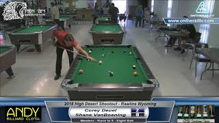 2018 HDS - Corey Deuel vs Shane VanBoening - Eight Ball
