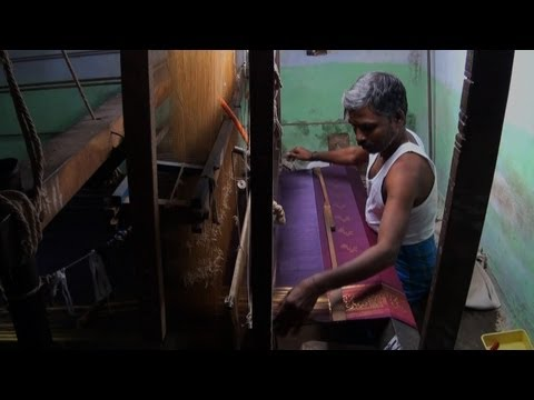 Kanjeevaram pattu saree weaving