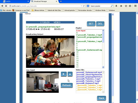 Crear canal TV online en vivo con el nuevo servicio streaming/web bc-cast