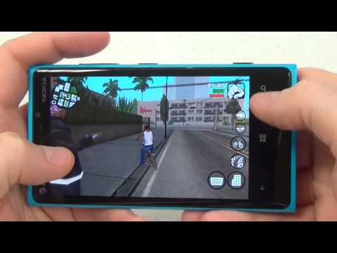 Grand Theft Auto San Andreas: Windows Phone Lumia 920 Gameplay