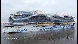 AIDAnova | start to the historic maiden voyage of worlds first LNG powered cruise ship | 4K-Video
