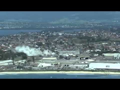 Video 0:19          Demolition of the Port Kembla Copper smelter stack