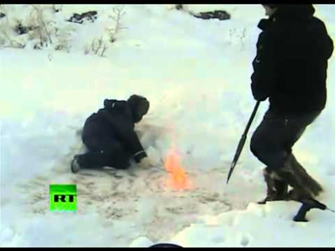 Russia has tons of energy-ice methane gas in Siberia