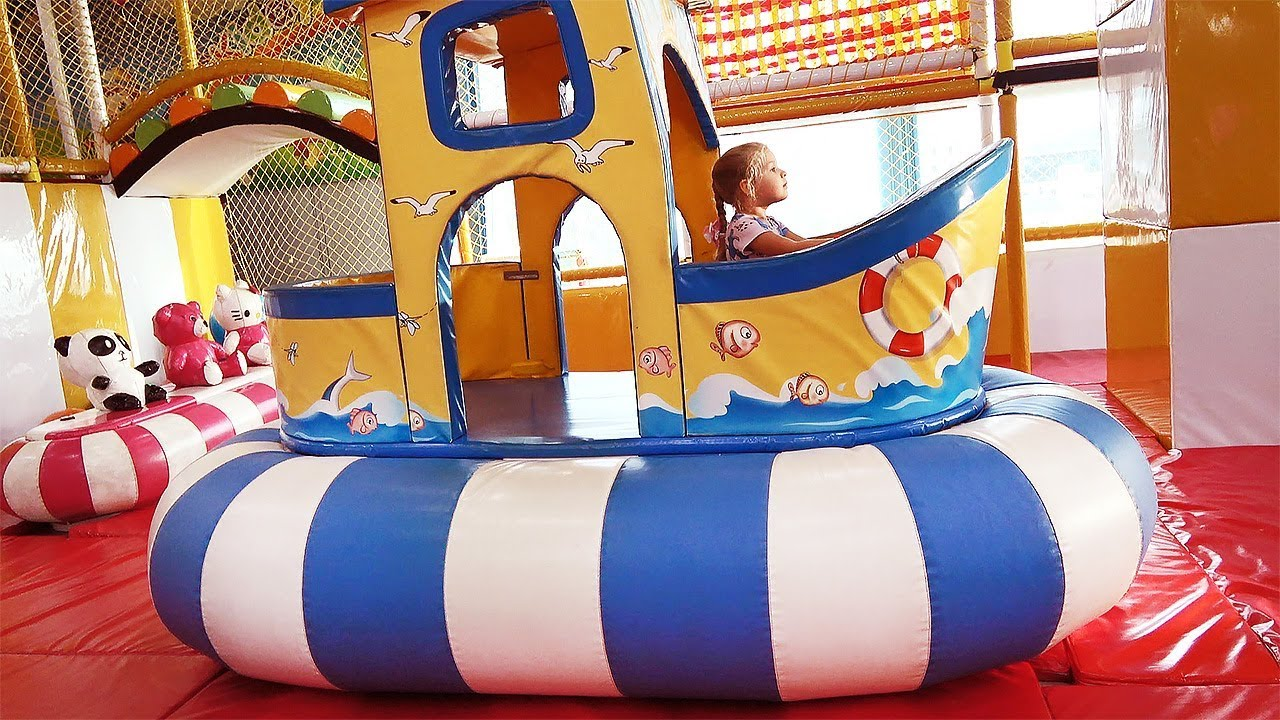 Indoor Playground for children | Fun activities with Roma and Diana