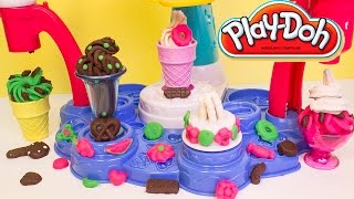 Play Doh Magic Swirl Ice Cream Shoppe Hasbro Playset Toys Review Play-Doh Magic Swirl Machine
