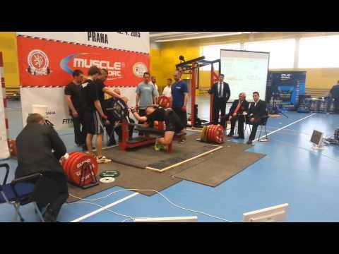 15 old years Radek Rosa - Bench Press 122,5kg (World Record)