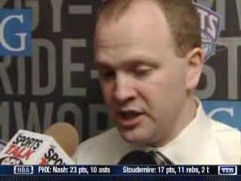 New Jersey Nets Lawrence Frank postgame interview, 3/04/07