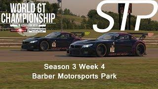 iRacing - World GT Championship Season 3 Week 4 - Barber Motorsports Park