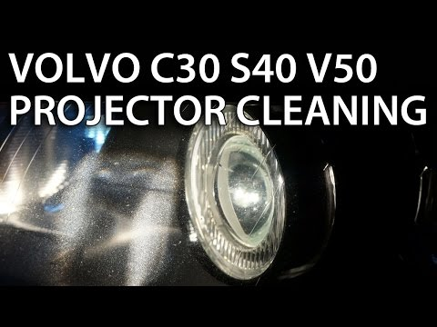 How To Replace Front Headlight Headlamp Light Bulbs On A 2004 2005 2006 And Up Volvo S40 V50 C30 ...