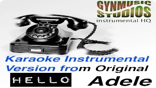 ADELE Hello Karaoke Instrumental HQ Original Version by Gynmusic Studios with Choir Hello Adele