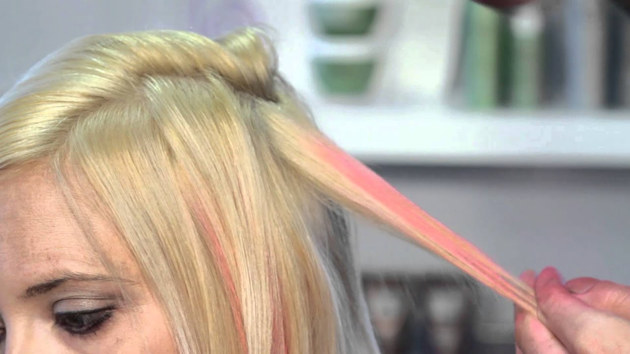 How To Put Hot Pink Highlights In Hair Hair Highlights