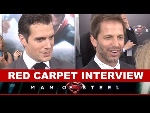 Man of Steel Premiere 2013 - Henry Cavill, Zack Snyder Interview : Beyond The Trailer