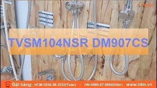 Hướng dẫn sử dụng và lắp đặt bộ sen tắm cây TOTO TVSM104NSR DM907CS chi tiết nhất