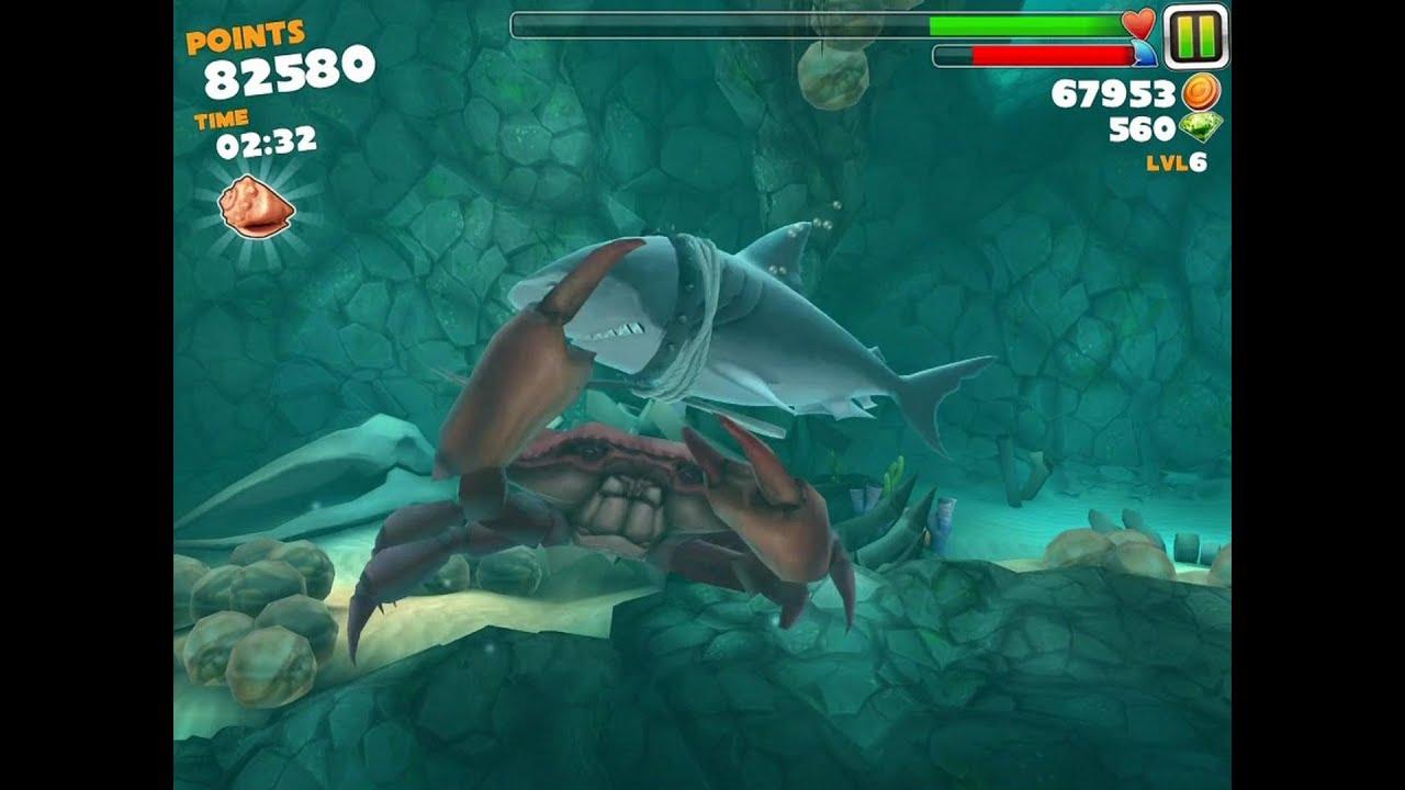 Hungry shark evolution megalodon vs giant crab - photo#4