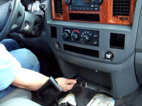 06 08 Dodge Ram radio removal in less then 2 min YouTube