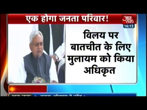 Nitish kumar: All six parties ready to form Janata Parivar to counter Modi wave