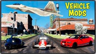 Formula 1 Race Car, F22 Raptor & Fallout 4 Car in GTA 5 + No Snow North Yankton! (Mod Showcase #21)