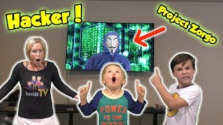 Project Zorgo Game Master Hacks our TV and Takes our Smashers Series 2 - Toy Scavenger Hunt