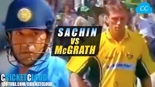 SACHIN'S ATTACK ON McGRATH | FULLY FIRED UP | Want to Smash Every Ball !!