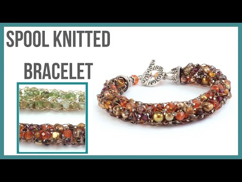 Spool Wire Knitted Bracelet Tutorial - Beaducation.com - YouTube