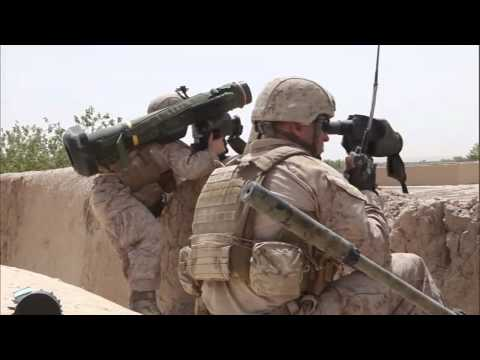 Javelin Missile Launch At Taliban Stronghold By U.S. Marines - USMC Afghanistan Combat Footage