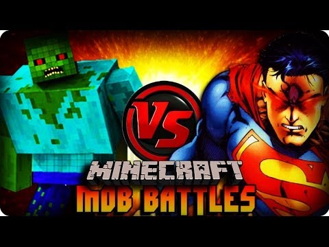 Minecraft Mod - MUTANT ZOMBIE VS SUPERMAN ! Mob Battle (SUPERHERO MOD)
