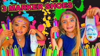 3 MARKER SHOES CHALLENGE!!  LAS RATITAS