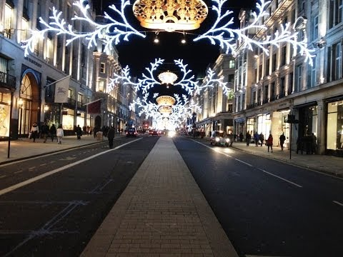 Spectacular Christmas lights and shop windows displays in Central London 2013