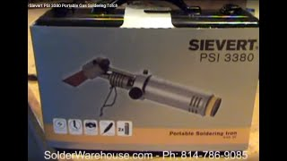 Demonstrating the Sievert PSI 3380 Portable Gas Soldering Torch
