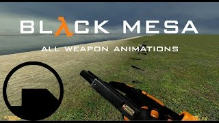 Black Mesa Steam ALL Weapon Animations