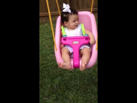 Eden swinging!