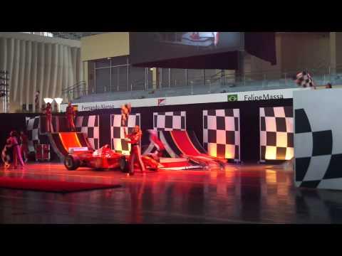 circus show Ferrari World Abu Dhabi