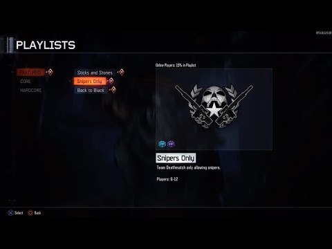 PLAYING THE NEW SNIPERS ONLY GAME MODE ON CALL OF DUTY BLACK OPS 3