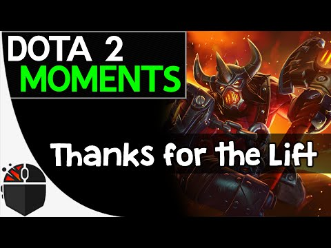 Dota 2 Moments - Thanks for the Lift