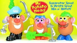 Mr. Potato Head Super Star Spud & Pirate Spud Playskool Mix and Match