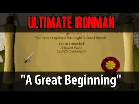 """Ultimate Ironman Mode Series """"A Great Beginning"""" Day 1 OSRS"""