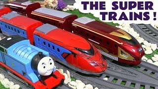 Thomas and Friends Trains meet the Avengers Spiderman and Iron Man super fast trains
